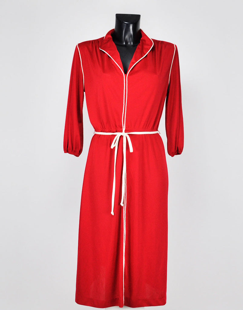 70s Vintage Red Day Dress