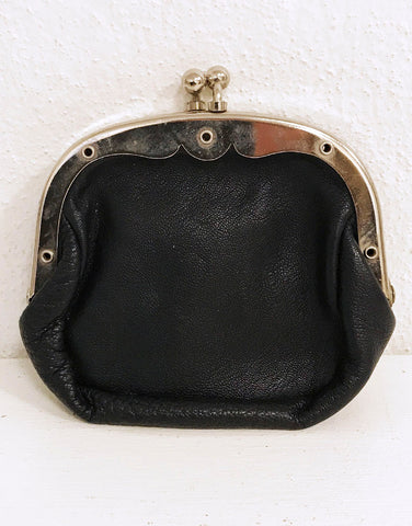 Dark Blue leather coin purse
