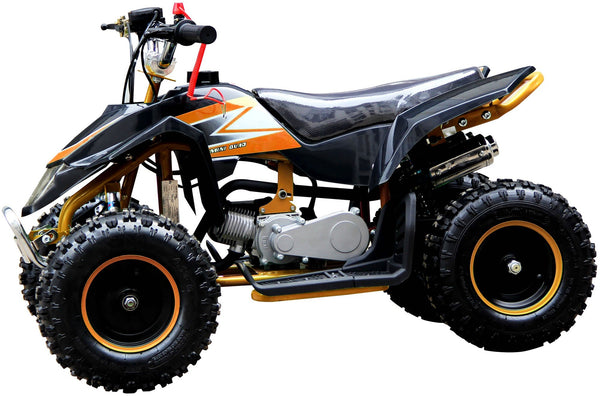 800w ELECTRIC 36v Kids Petrol ATV Quad Bike - Orange
