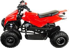 800w Zipper Kids Mini Electric Quad Bike - Red
