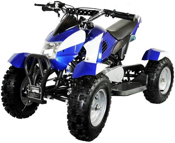 800w Zipper Electric Kids Quad Bike - Blue