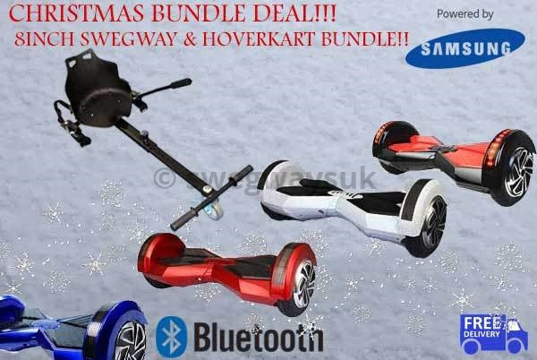 "CHRISTMAS DEAL! 8"" Bluetooth Swegway Plus & Hoverkart Bundle"