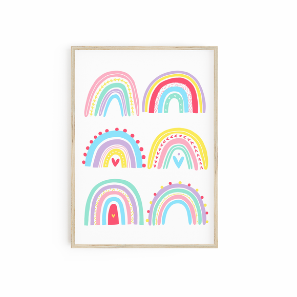 Bright Multi Rainbow print