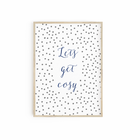 Lets get Cosy - Navy & Grey