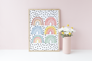 Multi Mixed Rainbow print