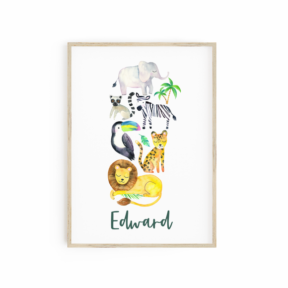 Personalised Jungle Print