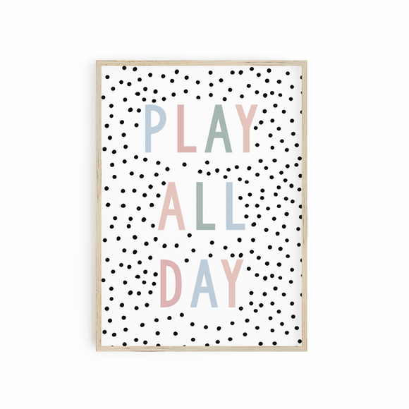 Play All Day - Muted Pastels