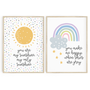 You are my sunshine duo - Pastels