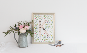 Floral & Polka dot Personalised Monogram