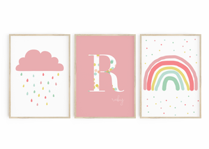 Pink Cloud, Monogram & Rainbow trio