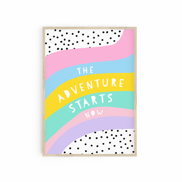 The Adventure Starts Now - Bright Pastels