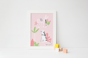 Pink Stay Wild Tiger print