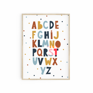 Alphabet - Neutral Car Print
