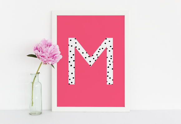 Bright Dalmation Polka Monogram