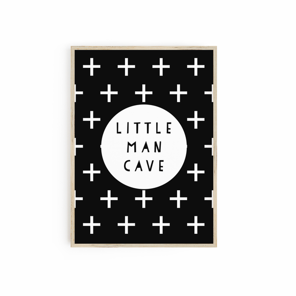 Little Man Cave - Monochrome print