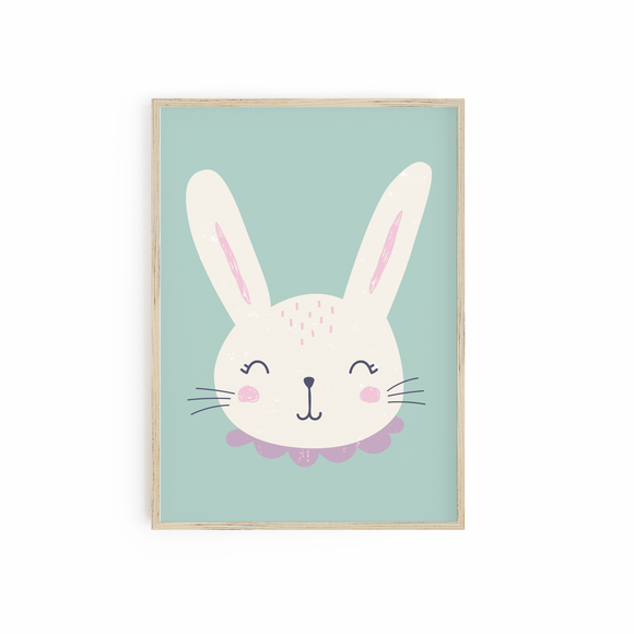 Bunny Rabbit head print