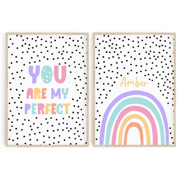 You are my Perfect // Personalised Rainbow