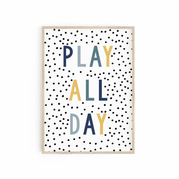 Play all Day - Blue + Mustard