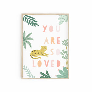 You are so loved - Leopard Cheetah pink