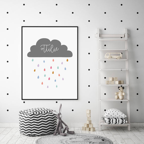 Grey Personalised Cloud