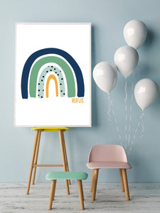 Green and Blue personalised rainbow