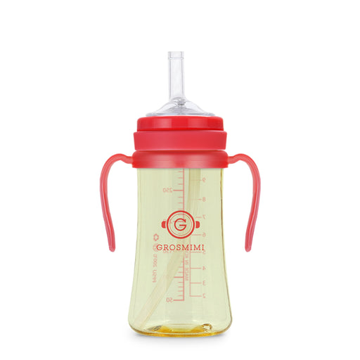 PPSU Straw Cup - 300ml (Red) / PPSU 吸管杯 - 300ml (紅色)