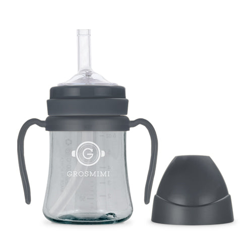 PPSU Straw Cup - 200ml (Grey) / PPSU 吸管杯 - 200ml (竹炭色)
