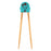 Rice 2 See U Chopsticks Training Set - Blue <br> 學習筷子連輔助器 - 粉藍色
