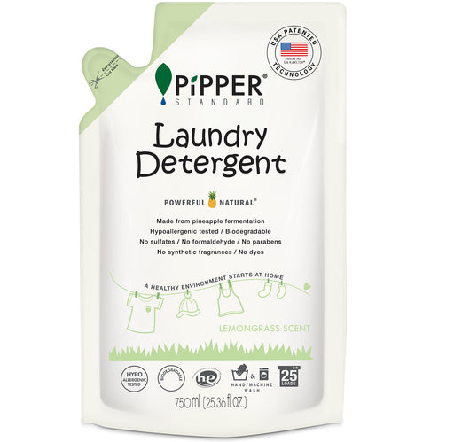 Laundry Detergent - Refills (750ml) - Lemongrass / PiPPER 沛柏 - 天然洗衣液 - 補充裝 (香茅)