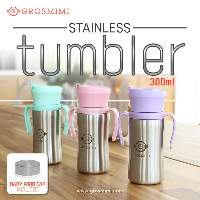 STAINLESS Tumbler - 300ml (Aqua Green) / 不銹鋼學飲杯 - 300ml (淺綠色)