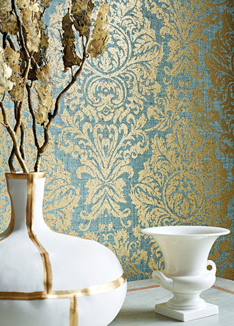 Kingsbury Damask Wallpaper