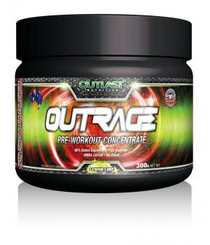 Outlast Supplements - OutRage Pre-Workout (300g)