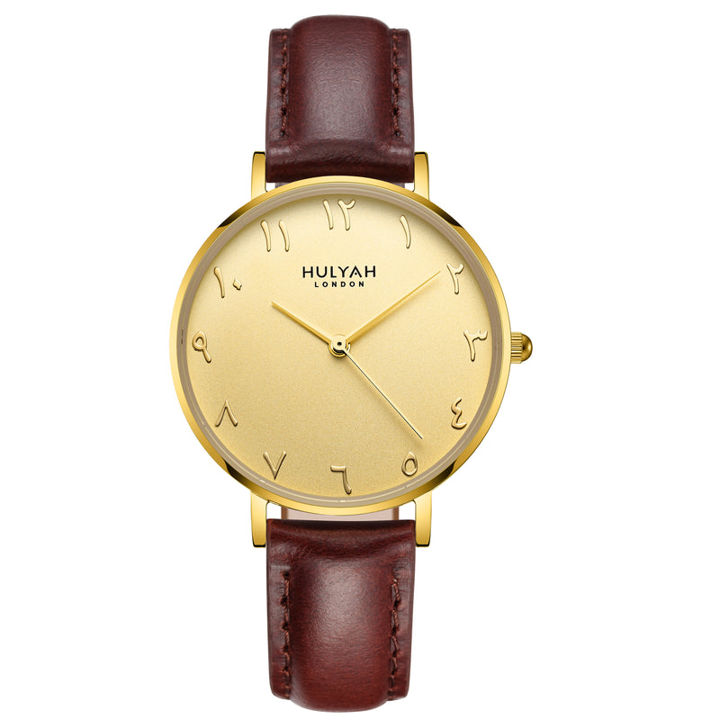 Pure Golden C9 Leather Arabic Watch