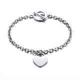 Almeria Engravable Personalised Arabic Bracelet Jewellery -Silver