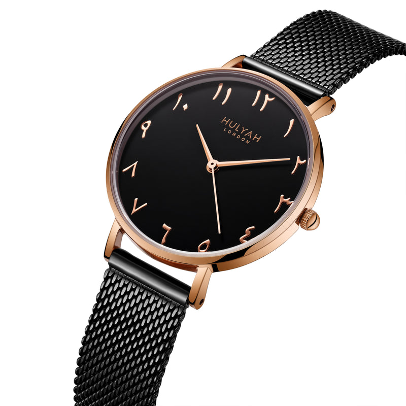 Black Rosegold  C18 Arabic Watch