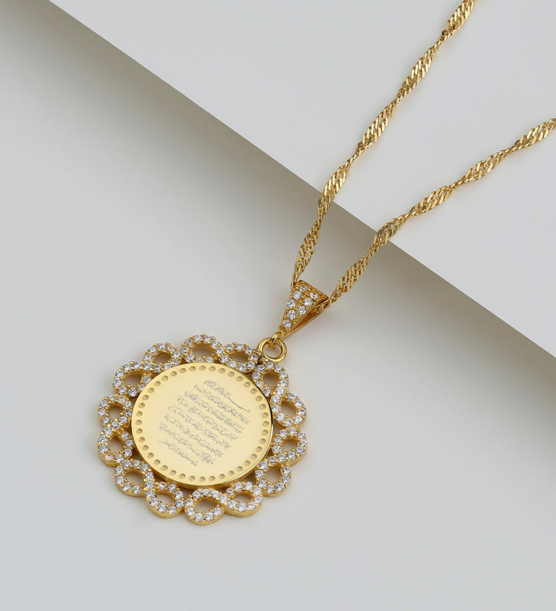 Ayatul Kursi Necklace with Zircon