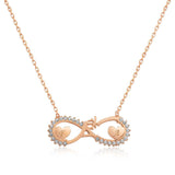 Infinite Hearts Engraveable Handcrafted Necklace -  Gold Plated
