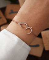 Love in Arabic with Stone 925 Original Sterling Silver
