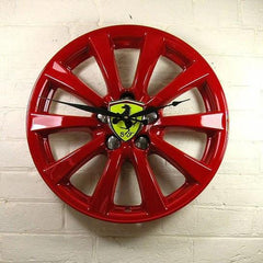 Alloy Wheel upcycled to stunning Ferrari Wheel wall clock
