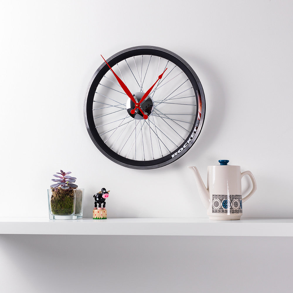 Racing Bike Wheel Clock Small
