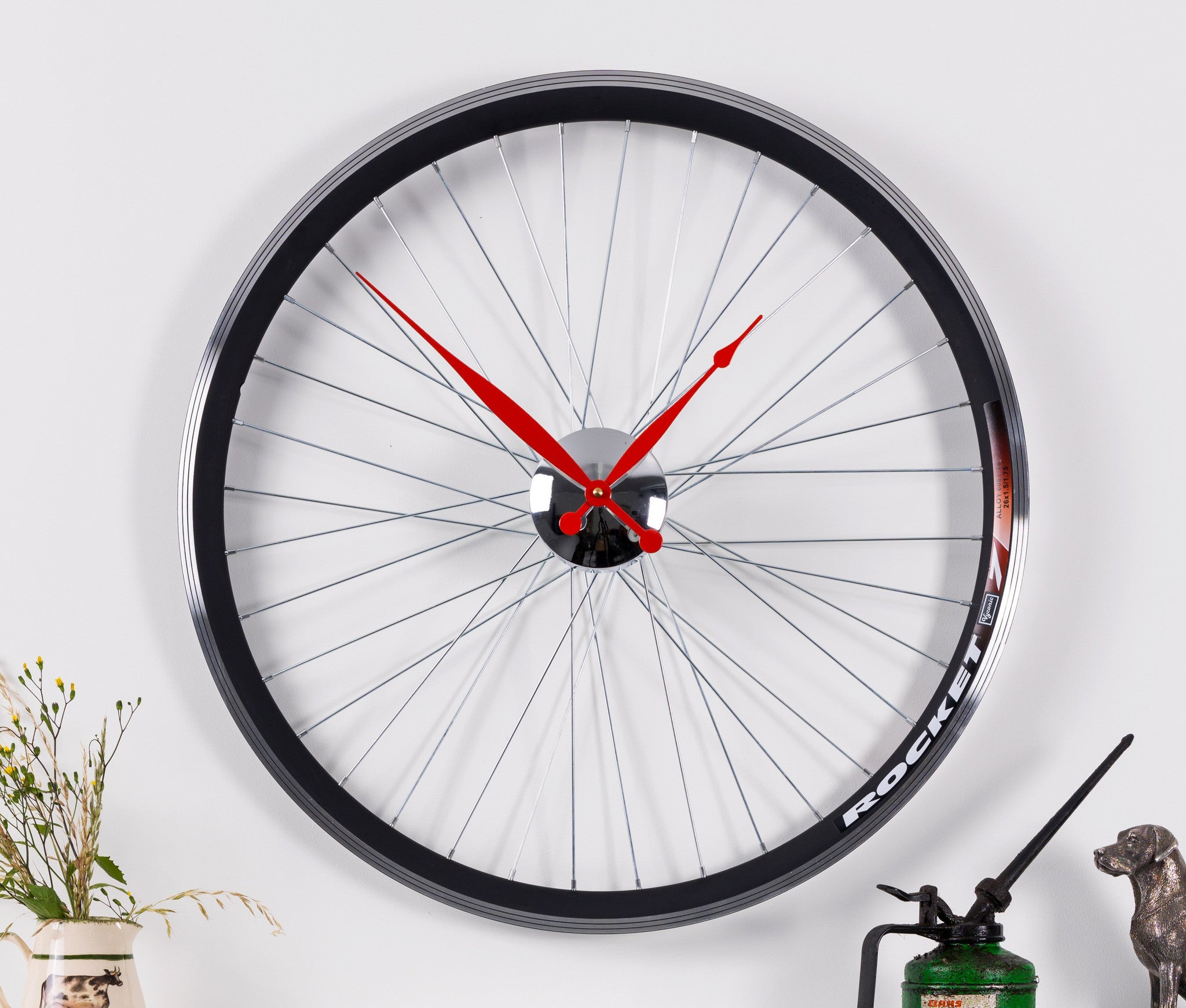RACING BIKE WHEEL CLOCK   Size - 22.5 inch