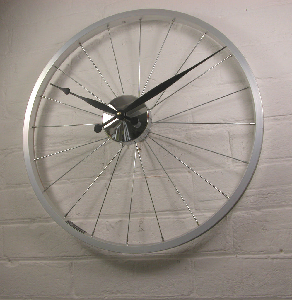 Bike wheel clock small Black Hands