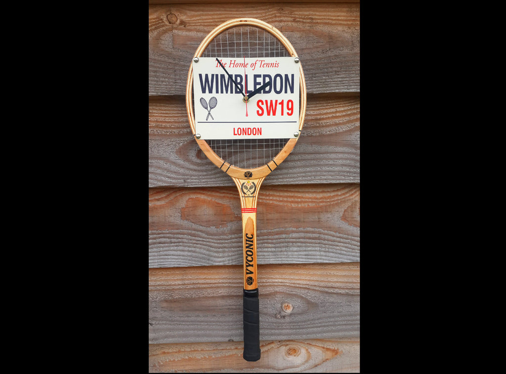 Wimbledon Tennis Racket Wall Clock
