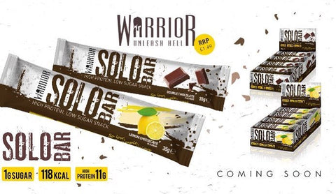 Warrior Supplements Solo Bars - launching on Posted Protein in the UK soon