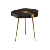 Zurich Brass In Lay Side Table
