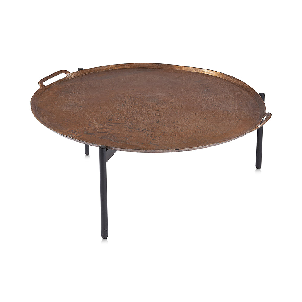 Copper Metal Coffee Table
