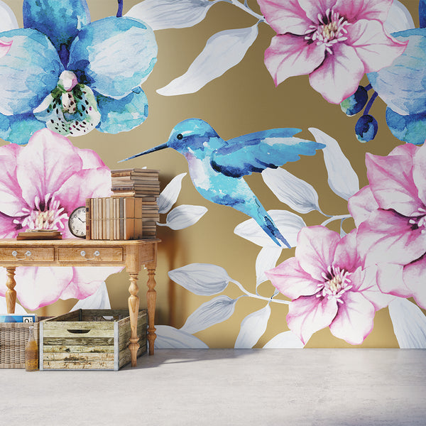 Hummingbird Mural (sold by the m2)