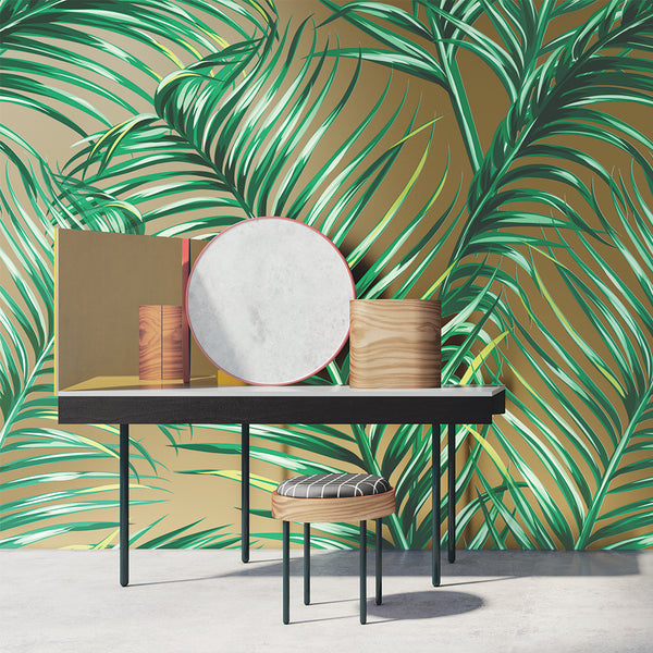 Botanical Palm Mural Sold Per m2