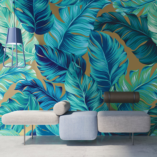 Bright Leaves Mural Sold Per m2