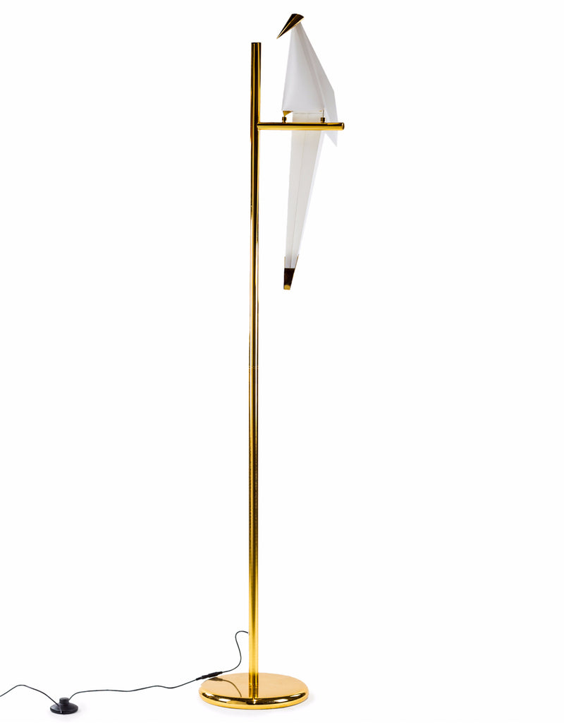 Curious Perching Parakeet Floor Lamp